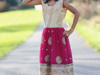 5 Magenta Dresses (Size: Kids)