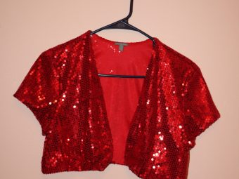 5 Red Sequin Kotis