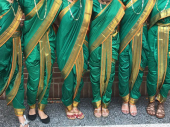 8 Green Lavani Dresses (Sizes: Teen & Adult)